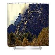Autumn Sun Glow Shower Curtain