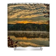 Autumn Sunrise At The Lake Shower Curtain