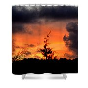 Autumn Sunrise From The Back Deck Shower Curtain