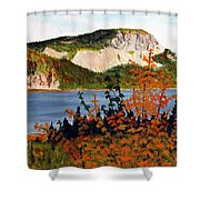 Autumn Sunset On The Hills Shower Curtain by Barbara Griffin
