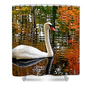Autumn Swan Shower Curtain