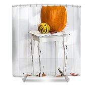 Autumn Table Shower Curtain