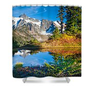 Autumn Tarn Shower Curtain