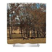 Autumn Texas Pasture Shower Curtain