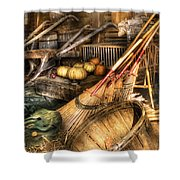 Autumn - This Years Harvest Shower Curtain by Mike Savad