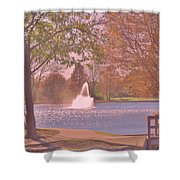 Autumn Time In The Park Shower Curtain