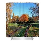 Autumn Tracks Shower Curtain