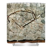 Autumn Tree In Stirred Air. Winter Tree Shower Curtain