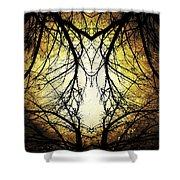 Autumn Tree Veins Shower Curtain