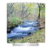 Autumn Tributary Shower Curtain