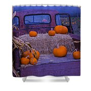 Autumn Truck Shower Curtain