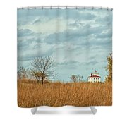 Autumn Twilight Pano Shower Curtain