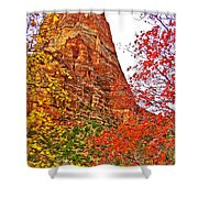 Autumn View Along Zion Canyon Scenic Drive In Zion National Park-utah Shower Curtain