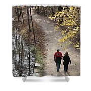 Autumn Walk On The C And O Canal Towpath Shower Curtain