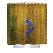 Autumn Watcher Shower Curtain