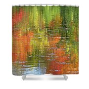 Autumn Water Colors Shower Curtain