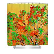 Autumn Watercolor Painting Shower Curtain