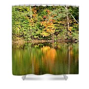 Autumn Watercolor Reflections Shower Curtain