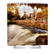 Autumn Waterfall / Maynooth Shower Curtain by Barry O Carroll