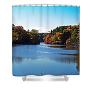 Autumn Waterway Shower Curtain