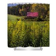 Autumn Wildflowers Shower Curtain by Debra and Dave Vanderlaan