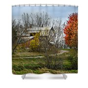 Autumn Winding Down Shower Curtain
