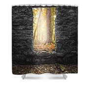 Autumn Within Long Pond Ironworks - Historical Ruins Shower Curtain