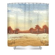 Autumn Woodlands Shower Curtain