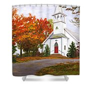 Autumn Worship Shower Curtain