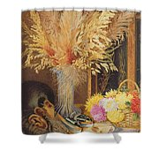 Autumnal Still Life Shower Curtain by Marian Emma Chase