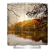 Autumn's Adieu Shower Curtain