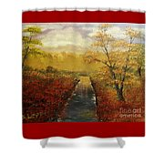 Autumn's Approach Shower Curtain