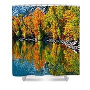 Autumn's Beauty Reflected Shower Curtain