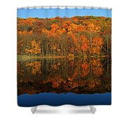 Autumns Colorful Reflection Shower Curtain