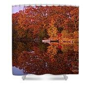 Autumn's Reflection Shower Curtain