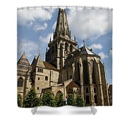 Autun Cathedral View Burgundy Shower Curtain