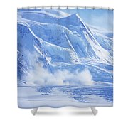 Avalanche At A Distance Shower Curtain