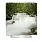 Avalanche Creek In Spring Run Off Shower Curtain