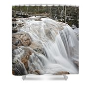 Avalanche Falls - White Mountains New Hampshire Usa Shower Curtain