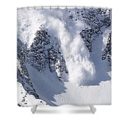 Avalanche I Shower Curtain by Bill Gallagher