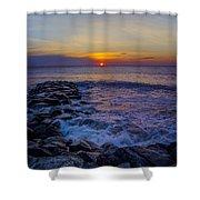 Avalon New Jersey Sunrise Shower Curtain
