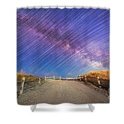 Avalon Star Trails  Shower Curtain