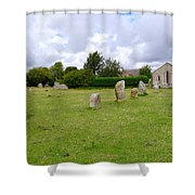 Avebury Aligned Stones Shower Curtain