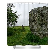 Avebury Megalith Shower Curtain