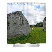 Avebury Megaliths Shower Curtain