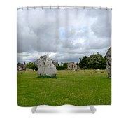 Avebury Stones Shower Curtain