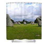 Avebury's Southern Entrance Stones Shower Curtain