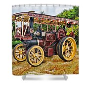 Aveling And Porter Showmans Tractor Shower Curtain