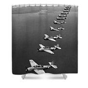 Avenger Bombers, 1943 Shower Curtain