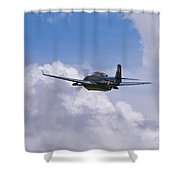 Avenger Departure Shower Curtain by Tim Mulina